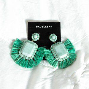 NWT BaubleBar Mint Green Statement Earrings